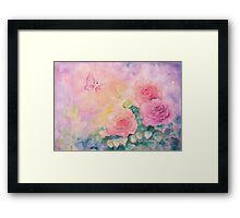 Roses In Softest Mist Framed Print