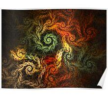 Spirals Of Yarn Poster