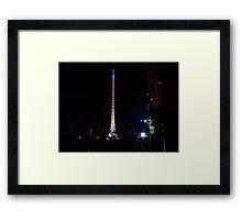 Melbourne Spire Framed Print