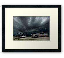 '54 Chevy Deluxe & '56 Bel Air Custom Framed Print