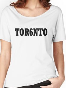 TOR6NTO [Black] Women's Relaxed Fit T-Shirt