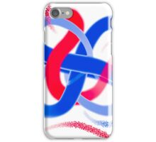 Twisted Red and Blue Design iPhone Case/Skin