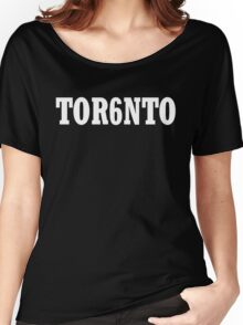 TOR6NTO [White] Women's Relaxed Fit T-Shirt