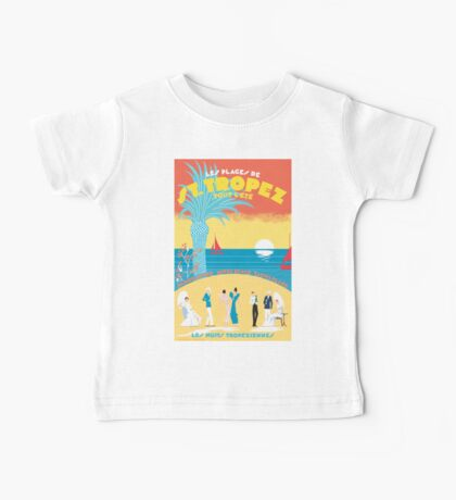St. Tropez Classic Vintage Travel Poster Baby Tee