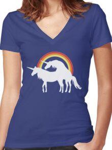Unicorn Love Women's Fitted V-Neck T-Shirt