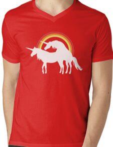 Unicorn Love Mens V-Neck T-Shirt