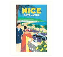 French Riviera Classic Vintage Travel Poster Art Print