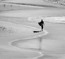 Swirling Surfer by Brad  Malyon