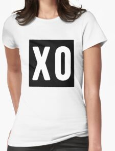 XO Square [Black] Womens Fitted T-Shirt