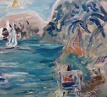 LOVE ON THE BEACH(C2008)(ACRYLIC) by Paul Romanowski