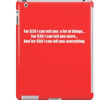 Pee-Wee Herman - For $20 I Can Tell You - White Font iPad Case/Skin