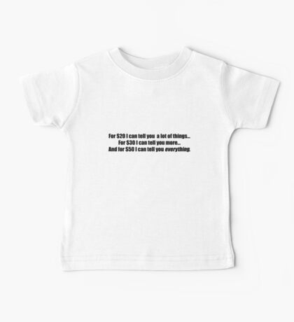 Pee-Wee Herman - For $20 I Can Tell You - Black Font Baby Tee