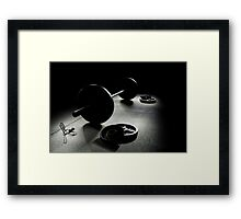 Olympic Weight Training in Dark Shadow Framed Print
