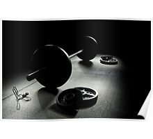 Olympic Weight Training in Dark Shadow Poster