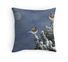 After The Snow Shower Throw Pillow