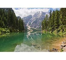 Lake Braies, South Tyrol, Italy Photographic Print