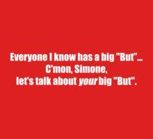 Pee-Wee Herman - C'mon Simone, Let's Talk - White Font One Piece - Short Sleeve