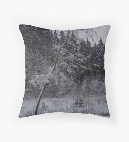 White Christmas 3 Throw Pillow