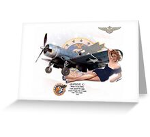 Daphne C - F4U-1 Corsair Greeting Card