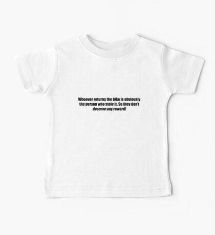 Pee-Wee Herman - Obviously The Person Who Stole it - Black Font Baby Tee