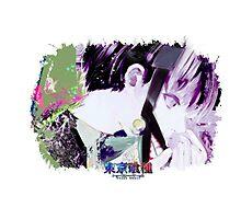 Tokyo Ghoul - Kaneki Ken (Ed Card) With Logo Photographic Print