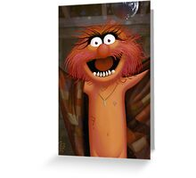 Muppet Maniacs - Animal as Buffalo Bill Greeting Card