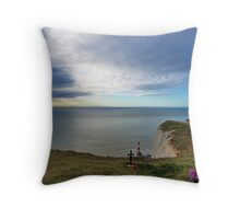 Beachy Head Throw Pillow