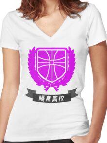 Yosen Highschool - Kuroko's Basketball Women's Fitted V-Neck T-Shirt
