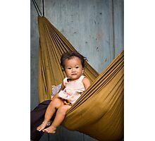 Baby in hammock Photographic Print