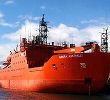 Aurora Australis, docked in Hobart by Bev Pascoe