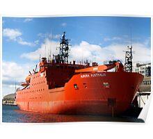 Aurora Australis, docked in Hobart Poster
