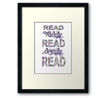 Read Sequence One Framed Print