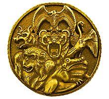 Mighty Morphin Power Rangers Ninja Megazord Coin Photographic Print
