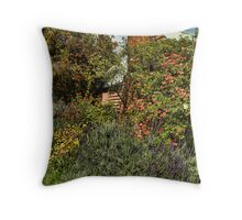 Cottage Garden Throw Pillow
