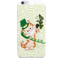 Kitty on St.Patrick's day (1508 Views) iPhone Case/Skin
