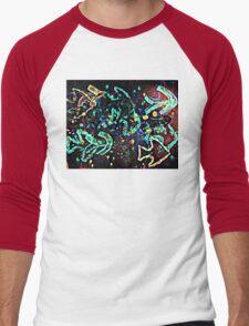 Cool graphic, neon fish Men's Baseball ¾ T-Shirt