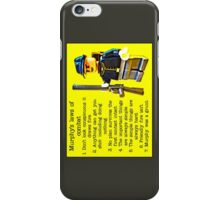 Murphy's laws of combat by Tim Constable iPhone Case/Skin