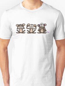 See No Evil Hear No Evil Speak No Evil Pink iPod Tee Unisex T-Shirt