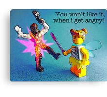 A fairy with anger management issues! Canvas Print