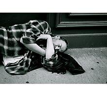on the street  Photographic Print