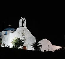 Parikia castro church by John Ross