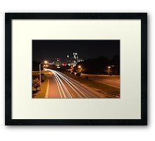 Raleigh Skyline #1 Framed Print