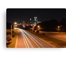Raleigh Skyline #1 Canvas Print