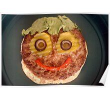 Happy Hamburger Poster
