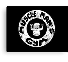 Muscle Man's Gym Canvas Print