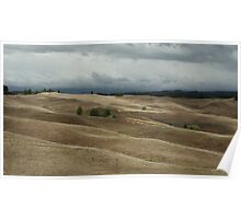 Storm over a painted landscape Poster