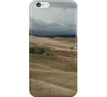Storm over a painted landscape iPhone Case/Skin