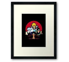 Red Moon HOKAGES Framed Print