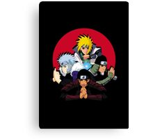 Red Moon HOKAGES Canvas Print