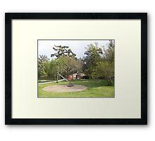City Parks Sun Dial Framed Print
